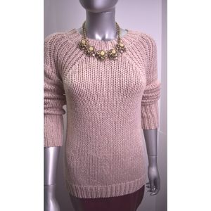 Ann Taylor Chunky Light Blush Knit Woman Sweater